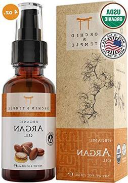 100% Pure USDA Certified ORGANIC Premium Moroccan Argan Oil