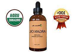 Virgin Argan Oil For Hair, Face, Skin & Nails -Huge 4 Oz bot