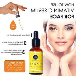 Vitamin C Facial Serum Organic Anti Aging Serum for Face and