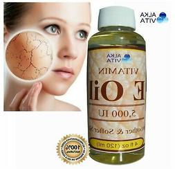 Vitamin E 5000 IU Facial Oil  Big Size Pure 100% Dry Skin Mo