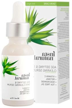 InstaNatural Wrinkle Acne Facial Serum Vitamin C Retinol Sal